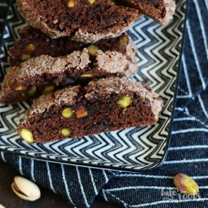 Chocolate Pistachio Biscotti | Bake to the roots